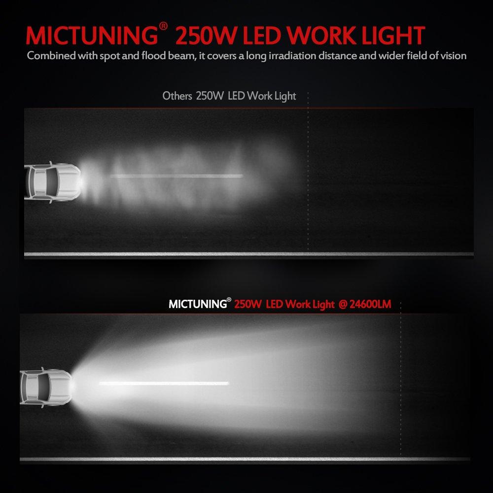 250W 50Inch Single Row Led Light Bar Slim Wiring