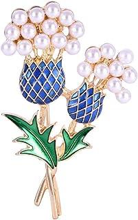 Fashion huile alliage cristal fleur bijoux de luxe vêtements Accessoires Broche