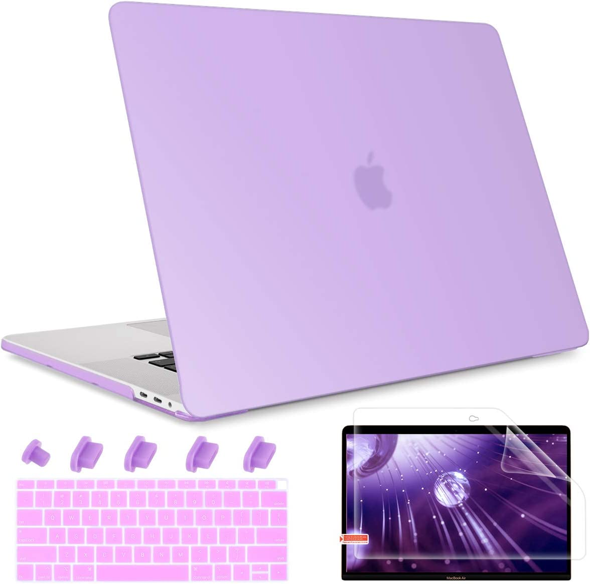 May Chen MacBook Air 13 Inch Matte Clear Case A1932 A2179 (2018 2019 2020 Release), Plastic Hard Shell Case Cover Keyboard Cover For New Mac Air 13