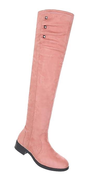 face03f719ea31 Damen Schuhe Overknee Stiefel Moderne  Amazon.de  Schuhe   Handtaschen