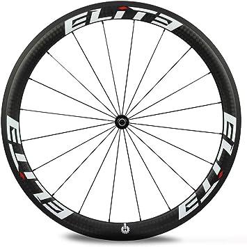 Yuanan 700C Ruedas de Carbono para Bicicleta de Carretera 47 mm Profundidad 27 mm Ancha Aero Rim con DT Swiss 350 Hub Sapim CX Ray Radios para Ciclismo Rueda de Bicicleta Tubeless: