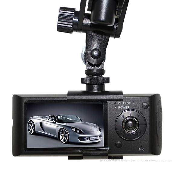 zantec X3000 2,7 140 ° Dual Lens Dashboard Camera Car DVR Black Box Video Recorder + GPS Logger: Amazon.es: Coche y moto