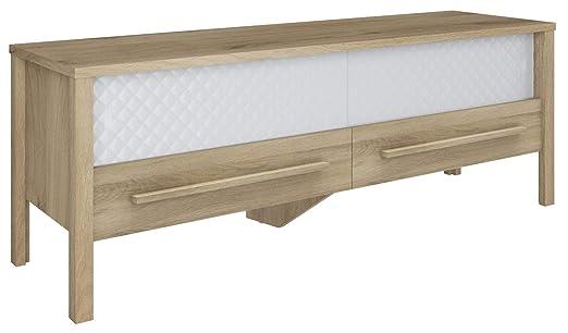 Miroytengo Mesa TV Padding 2 Puertas correderas Cristal diseño ...