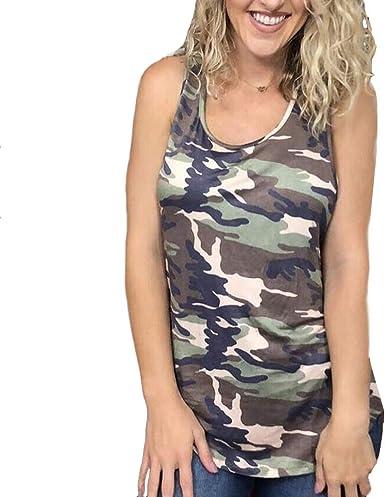 DressLksnf Camisetas sin Mangas Chaleco Mujer Tank Tops para ...