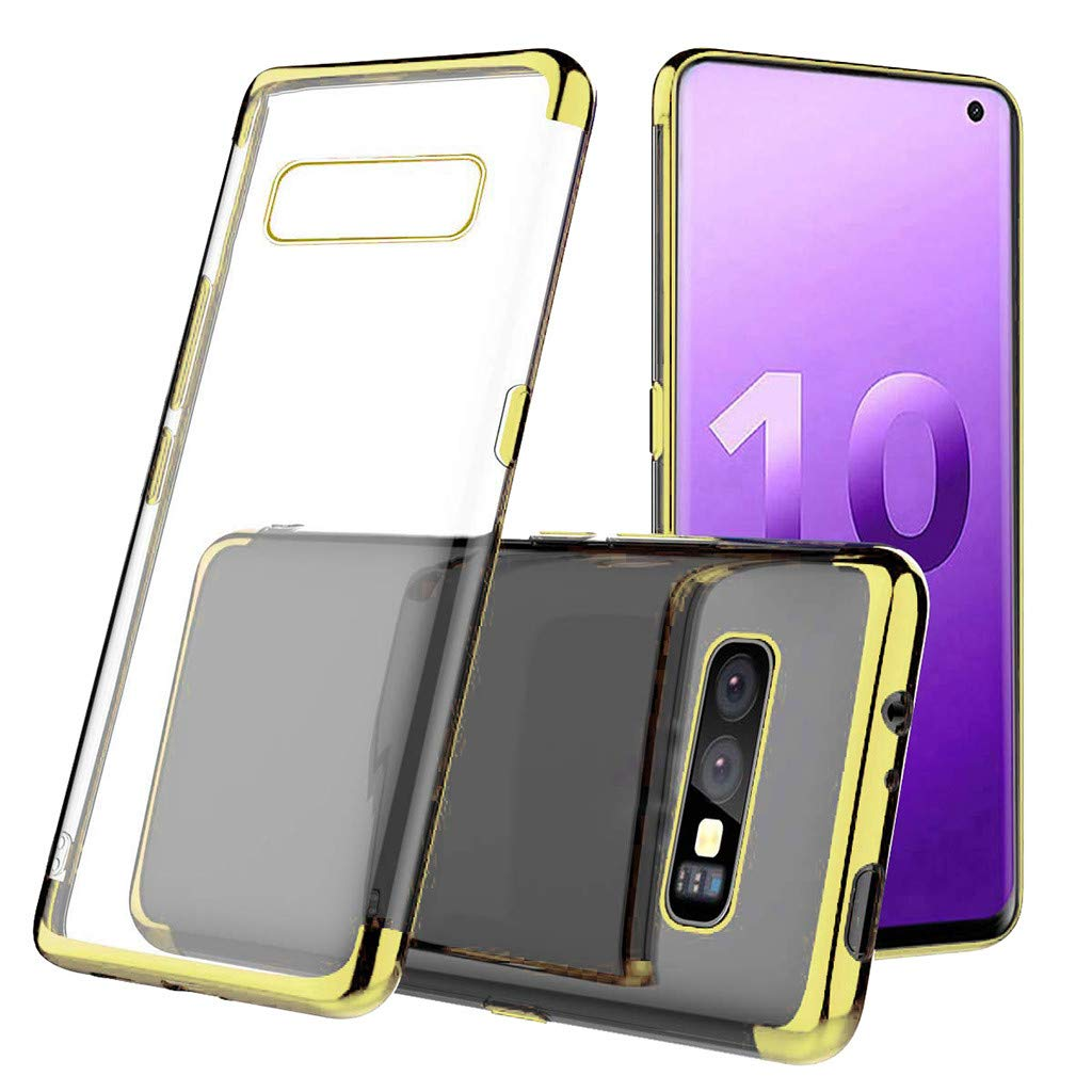 Waterproof-Case-with-Built- Screen-Protector,For Samsung-S10e -5.6inch-Clear-Case,Shock-proof-Protective-TPU-Gel Cover (Gold)