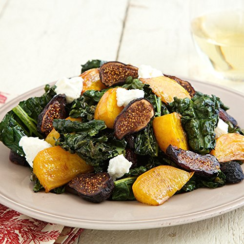 Goat Cheese Salad (Roasted Kale & Beet Salad with Figs and Goat Cheese by Chef'd (Dinner for 4))