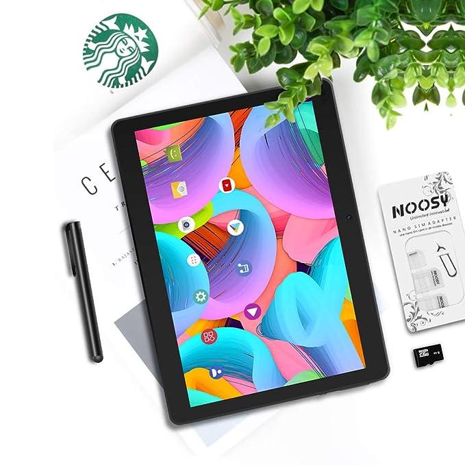 10.1 Pulgadas 3G Android Tablet Pad, Tableta Quad Core Android 8.1, 2GB RAM, 64GB (32G ROM + 32G TF), Ranuras para Tarjeta SIM Dual, cámara Dual 2 con ...