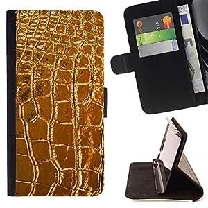Momo Phone Case / Flip Funda de Cuero Case Cover - De cuero de lujo del cocodrilo de lujo - Samsung Galaxy S6 Edge Plus / S6 Edge+ G928