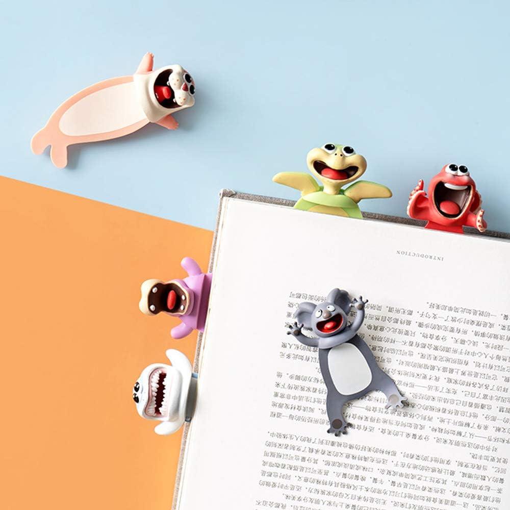 Esel 3D Cartoon Tier-Lesezeichen,3D Cartoon Bookmarks,Tier Lesezeichen Kinder 3D,Cartoon Sch/ön Tier Lesezeichen,Lesezeichen Kinder,Lesezeichen