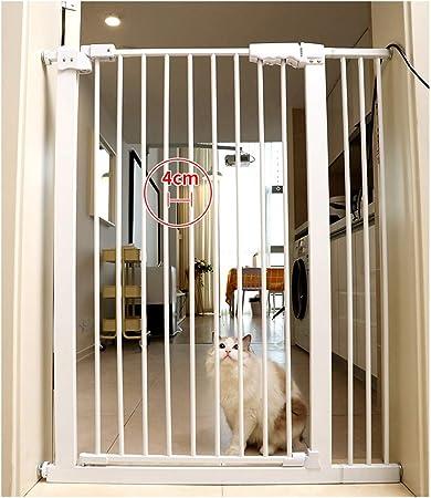 Interior Metal Barrera de Seguridad Ajustable Blanco Baby Gate Jugar Patio Protector para Puertas de Escalera (Color : Height 78cm, Size : 77-87cm): Amazon.es: Hogar