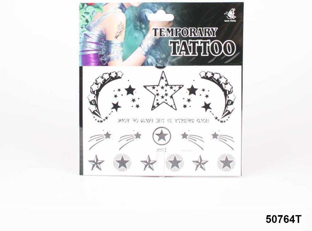 Tatuajes con estrellas y estrellas fugaces en negro: Amazon.es ...