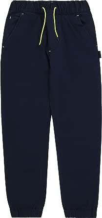 BOSS - Pantalón de sarga de algodón para niño