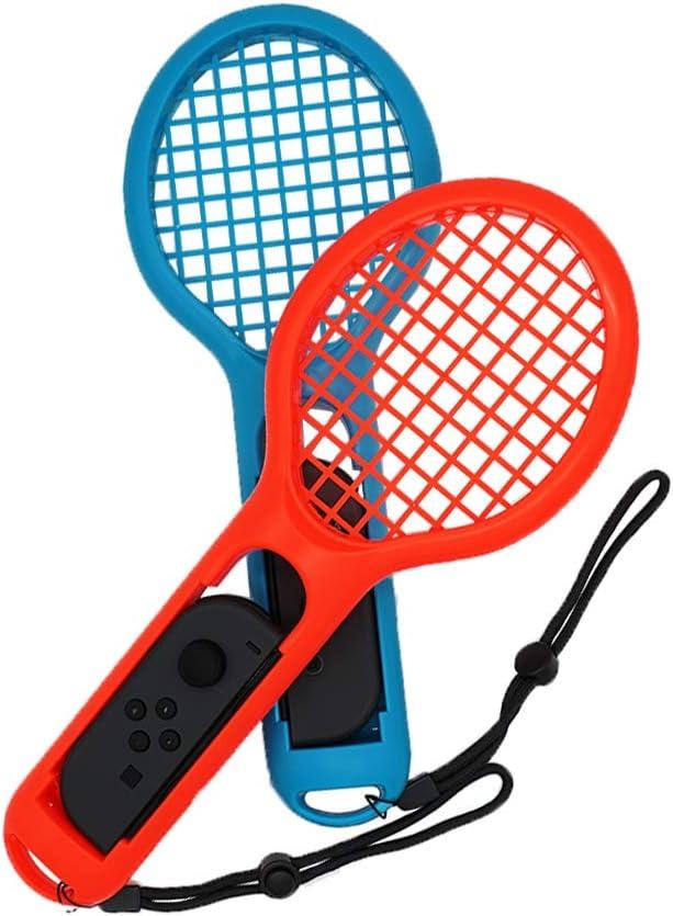 Mcbazel DOBE Twin Pack raqueta de tenis para Nintendo Switch Joy-Con controladores para Mario Tennis Aces Juegos somatosensoriales (2 piezas, azul / rojo): Amazon.es: Videojuegos