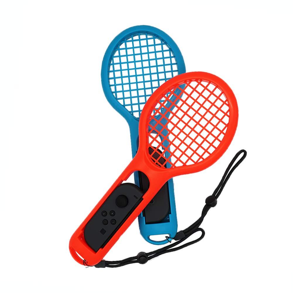 Gam3Gear Raqueta de tenis Twin Pack para agarres manuales Joy-Con controladores, Raqueta de tenis Fit Aces de tenis Mario, ARMS y juegos de detección de ...