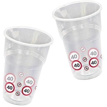 10 vasos * 40 cumpleaños * con señal de tráfico de diseño ...