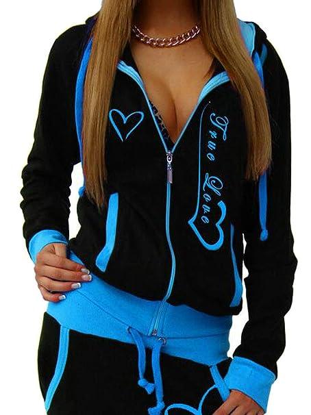 807b29780b Fubotevic Women s 2 Pcs Outfits Hoodie Jacket Jogger Pants Print Tracksuits  Sweatsuits Sets at Amazon Women s Clothing store