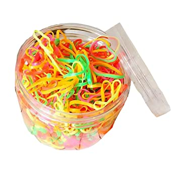 1Box Hair Holder Hair Tie Elastic Rubber Bands Ponytail Ring Holder Hair  Rope Wrap Hair Scrunchie 96dce00cd96
