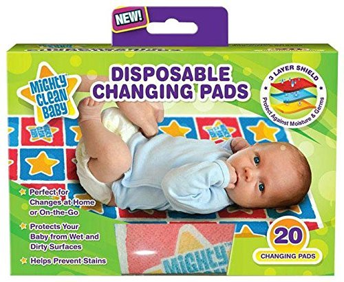 Mighty Clean Baby Disposable Changing Pad - 20 ct