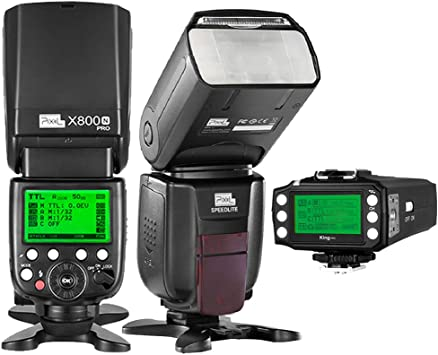 PIXEL X800N PRO 2.4G i-TTL Flash Speedlight for Nikon Camera GN60 HSS 1//8000s Auto-Focus w//Built-in 2.4GHz Wireless Receiver