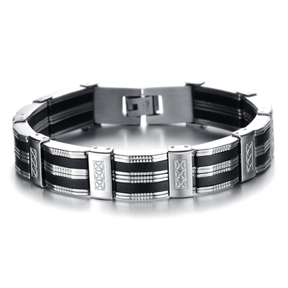 Chain Cuff Stainless Steel Men's Bracelet Free Ship Deal