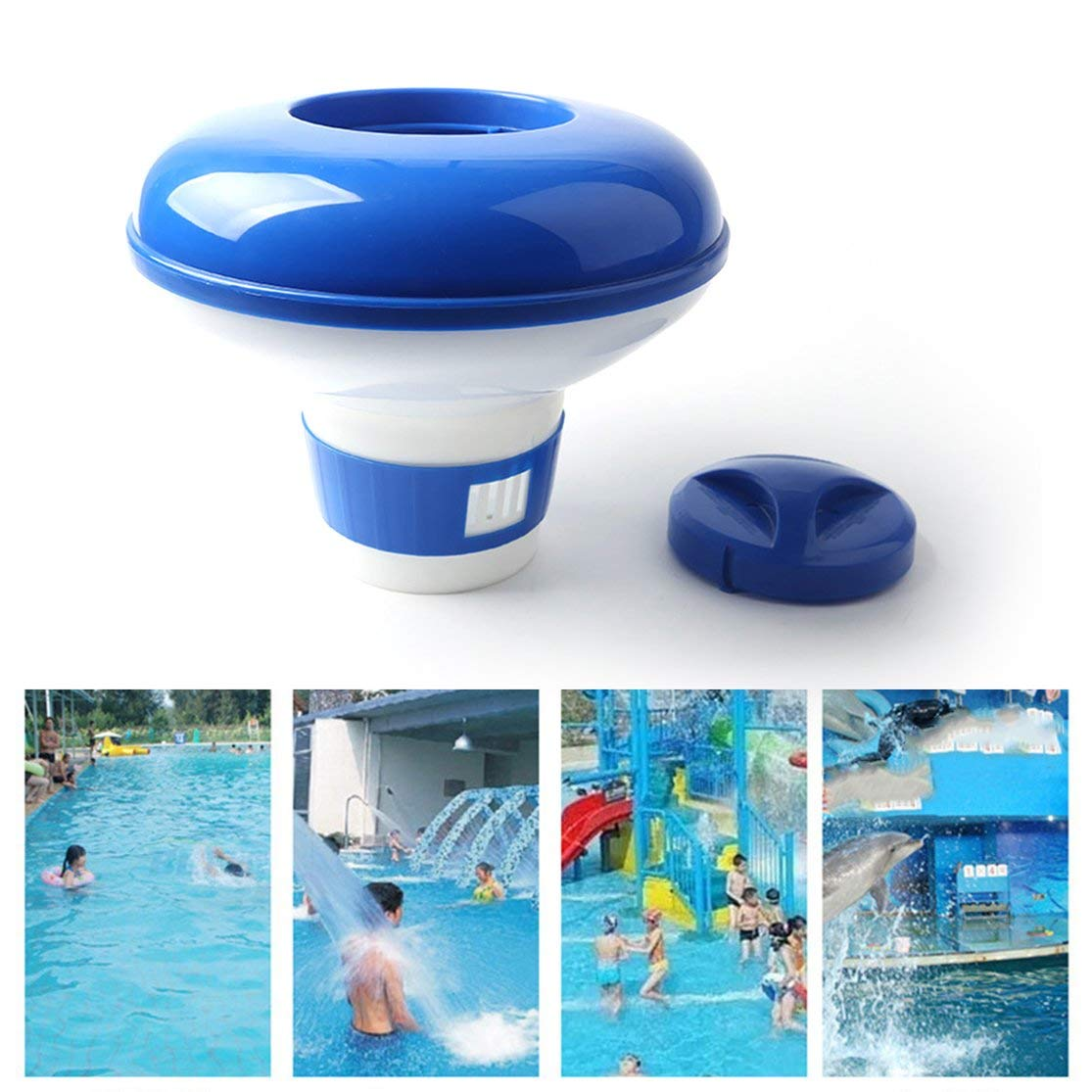 LouiseEvel215 Chlorine Chemical Tablet Floating Dispenser Bromine Tablet Holder Automatic Pool Chemical Dispenser for Swimming Pool Spa
