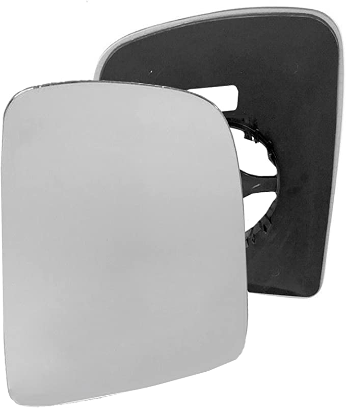 Clip On Driver right hand side wing door Silver mirror glass with backing plate #C-SN//R-TAAO05