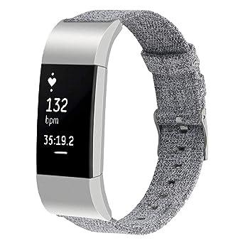 Pour De Straps Bracelets En Charge 2 Toile Montres Bretelles Fitbit mN80wvnO