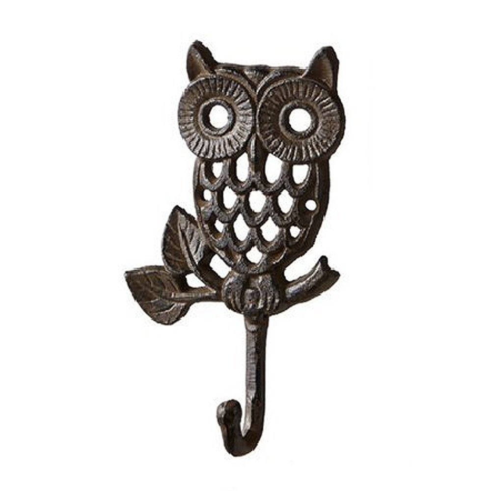 Bestplus Cast Iron Owl Vintage Wall Hook, TA001A, Thin