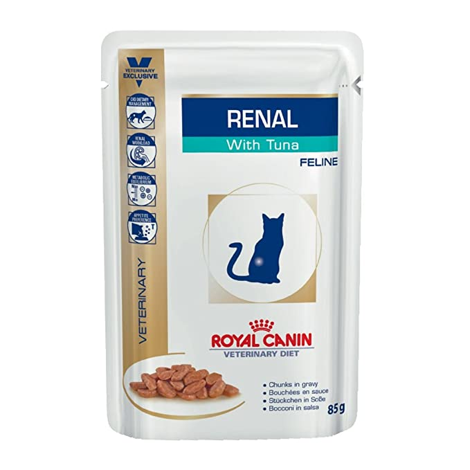 ROYAL CANIN Renal Feline Tuna Comida para Gatos - Paquete de 12 x 85 gr -