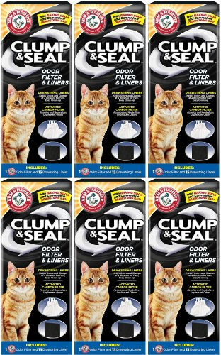 Arm & Hammer Clump & Seal 65 Odor Filter & Liners (6 x 1ct)