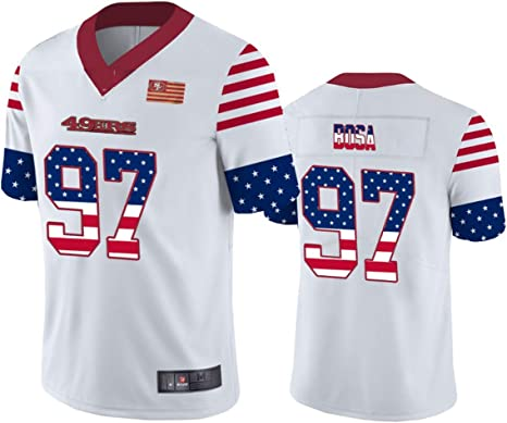 Camiseta de rugby de fútbol americano de manga corta, diseño del equipo de fútbol americano del equipo 97, 123, 123, color blanco, tamaño 3XL(195~200): Amazon.es: Deportes y aire libre