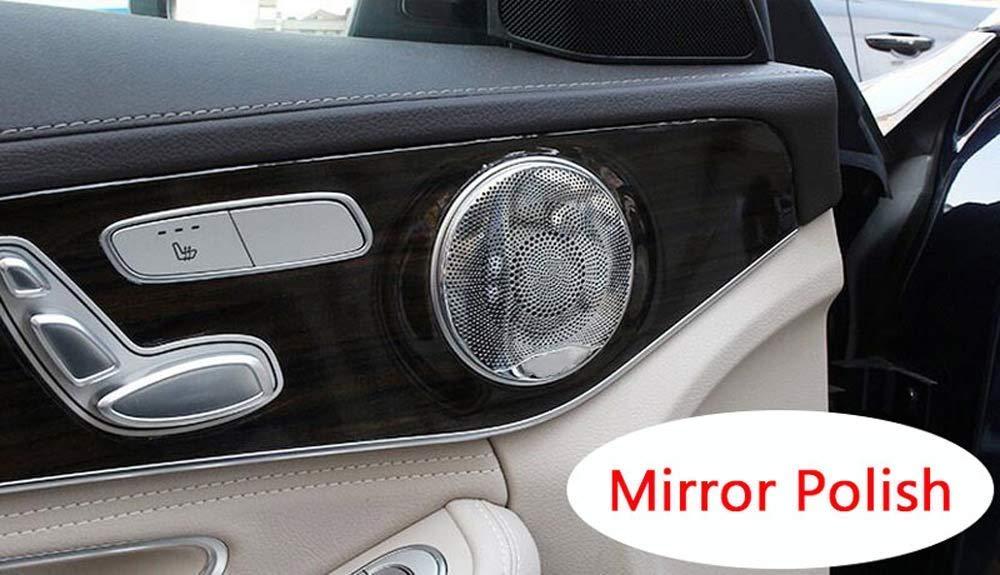 Coprimuro per porta in acciaio inox 304 Trim per classe C W205 GLC X253 E W213 C213 lucidatura a specchio Auto-broy