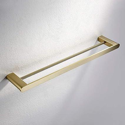 LifeX Barra de toalla cepillada de latón dorado Acero ...