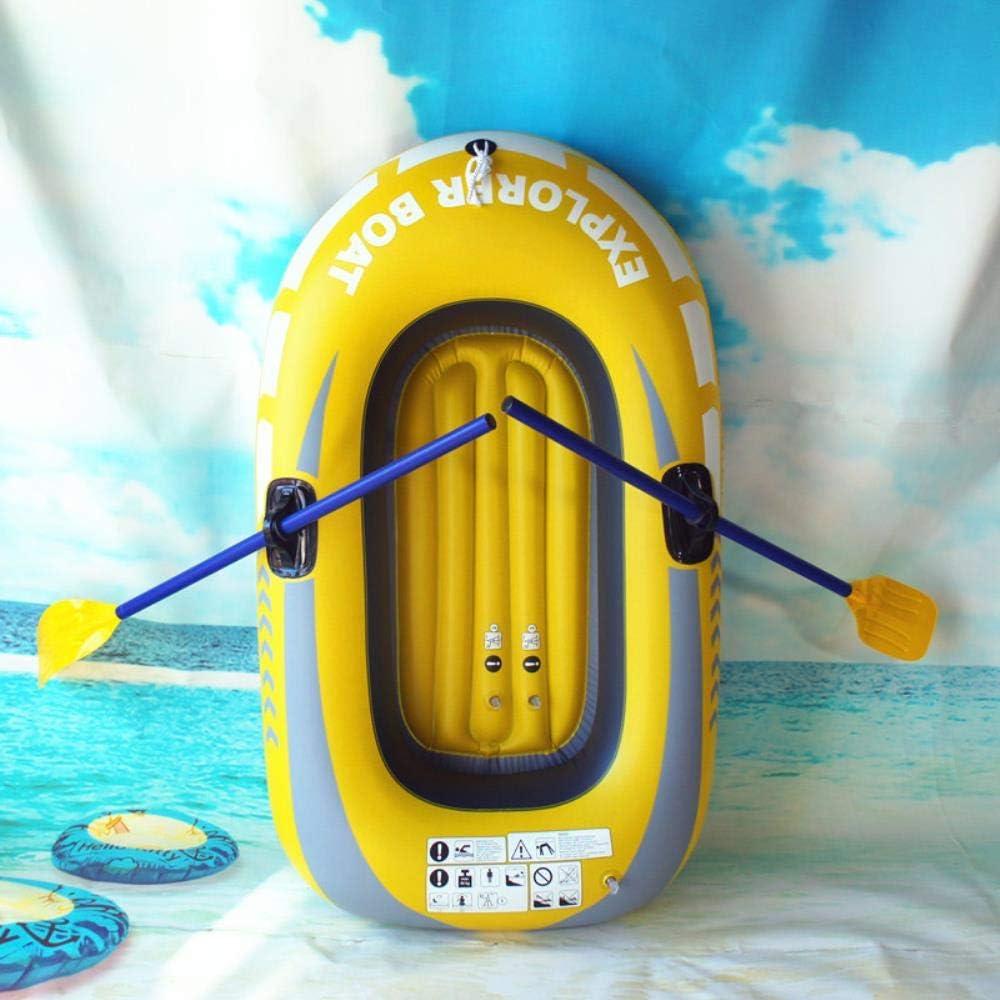 WANG Bote Inflable Bote Flotante Bote de Kayak de PVC Bote Bote Inflable, Bote para una Persona de 150 * 100 cm + Remo