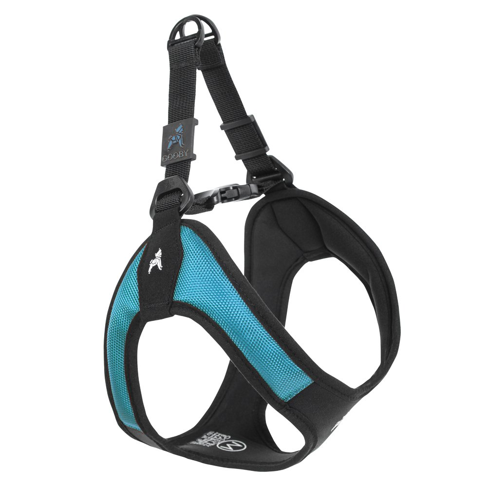 Gooby - Escape Free Easy Fit Harness, Small Dog Step-in Harness for Dogs That Like to Escape Their Harness, Turquoise, Small by Gooby