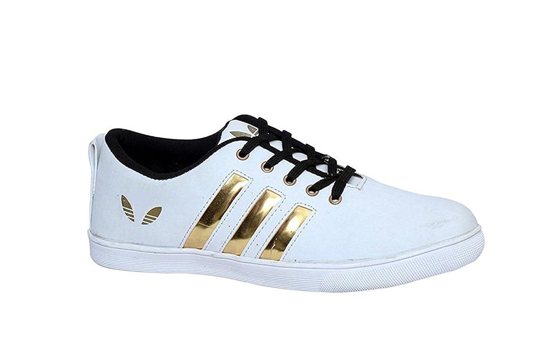 Culture Villa Men's White Golden Shoes