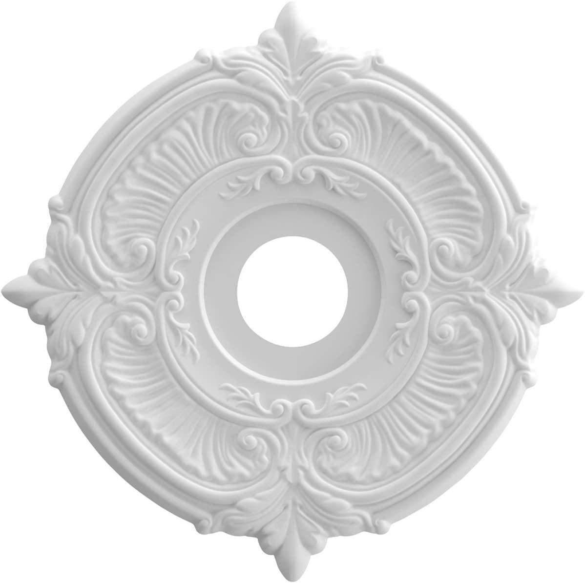 "Ekena Millwork CMP16AT Attica Thermoformed PVC Ceiling Medallion, 16""OD x 3 1/2""ID x 1"" P, White"