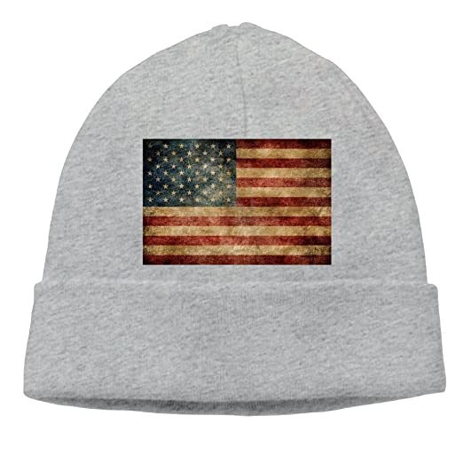 19bf3930b2b Image Unavailable. Image not available for. Color  SESY American Flag  Beanies Knitted Caps Skull Hats Unisex Soft Cotton Warm