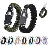 WEREWOLVES Paracord Knife Bracelet Survival Cord Bracelets, Emergency Tactical EDC Paracord Bracelet,Survival Gear Kit…