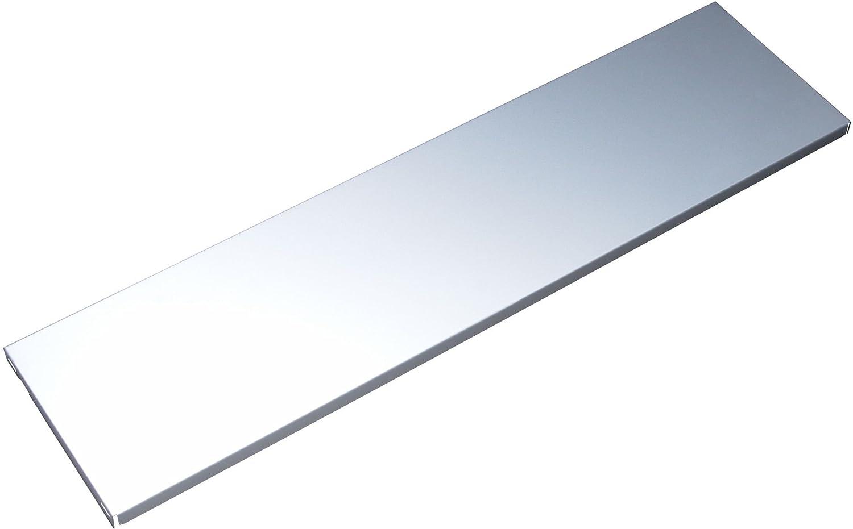 Element System 10700-00027 Stahlfachboden Regalboden 2 St/ück//B x T = 80 x 35 cm//wei/ß//f/ür Wandschiene und Pro-Regaltr/äger,