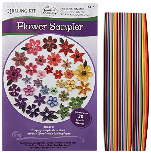 Quilled Creations Flower Sample Quilling Kit - Sampler Quilling Kit