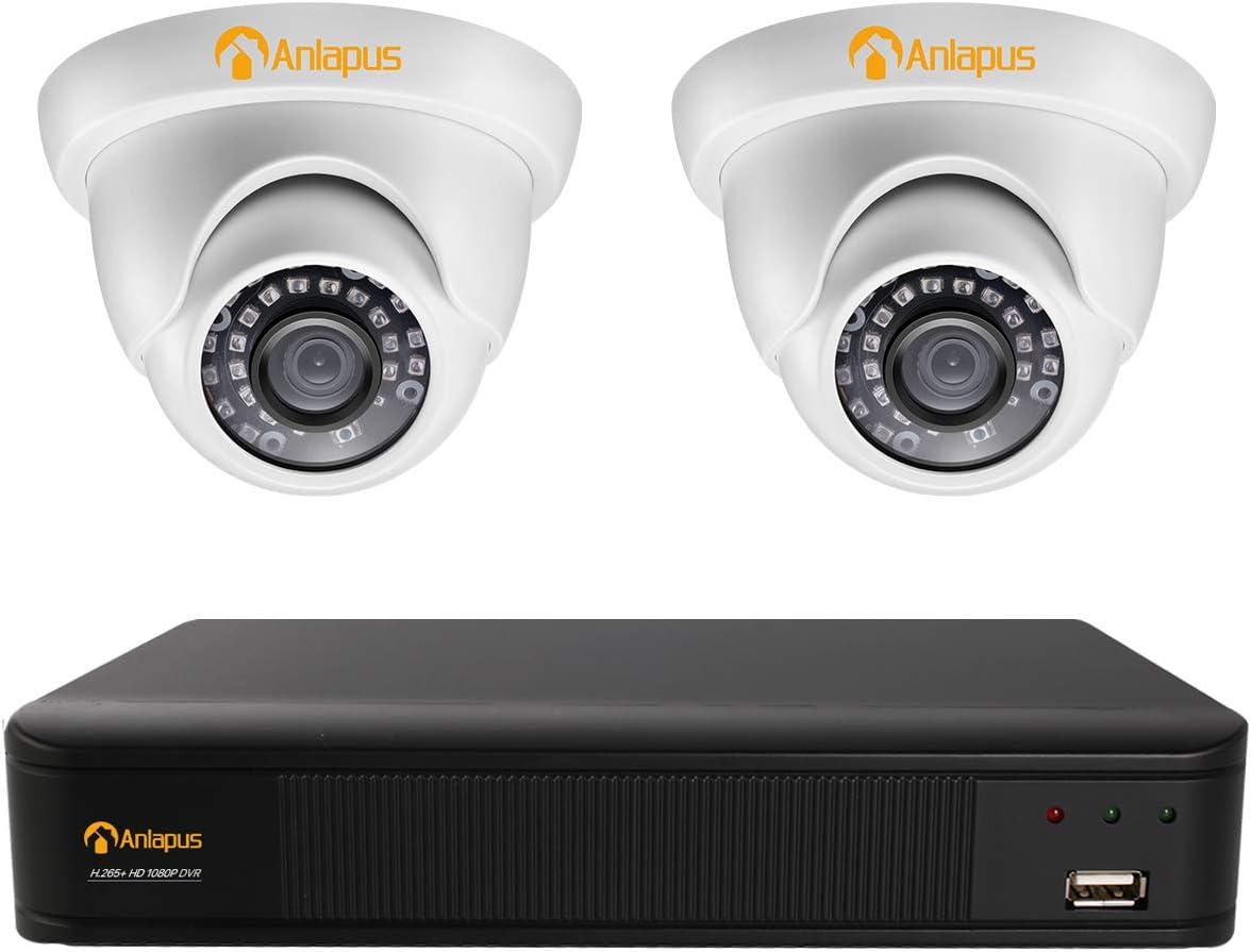 P2P WiFi Sistemi di sorveglianza, Videosorveglianza WiFi Kit 8CH 1080P senza disco rigido. accesso remoto telecamera IP impermeabile da esterno 4Pcs 720P 1MP 65 piedi