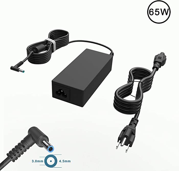 65W AC Adapter Charger Compatible For HP Chromebook X360 11 14 G3 G4 G5 EE 11-V020WM 11-V033NR 11-V031NR 11-V010NR 11-V025WM 14-SMB 14-AK040WM 14-AK041DX 14-DB0023DX 14-X013DX Laptop Power Supply Cord