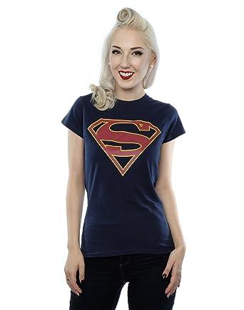 87ab1d1de DC Comics Women's Supergirl Logo T-Shirt: Amazon.co.uk: Clothing