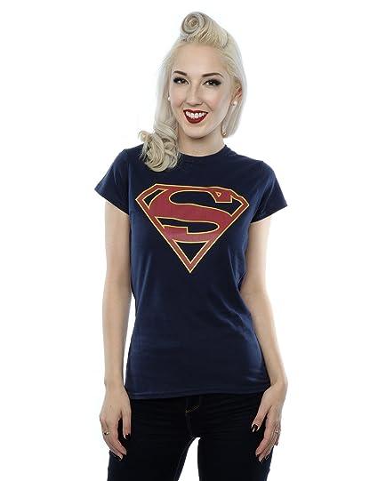 c2428ce4ad243 Amazon.com  DC Comics Women s Supergirl Logo T-Shirt  Clothing