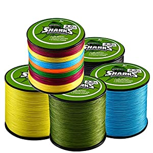 Braided Fishing Line 8 Strands Super Strong PE Fishing Line for Saltwater and Fresh Water Surf Fishing Blue 500m/547yd 18-96lb Handing Fishing Tackle