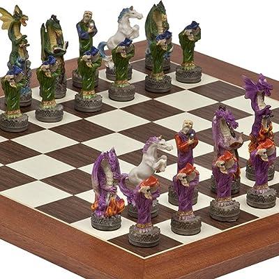 Fantasy Chessmen & Stuyvesant Street Chess Board from Spain