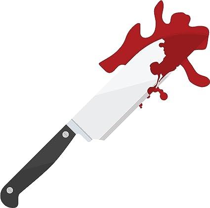 Amazon Com Creepy Bloody Murder Knife Cartoon Vinyl Decal Sticker