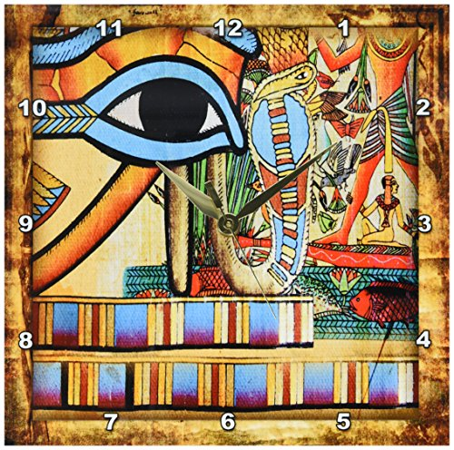 Egyptian Abstraction-Wall Clock, Egyptian wall decor