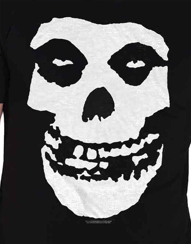 Misfits T Shirt Classic Fiend Skull Band Logo New Official Mens Black